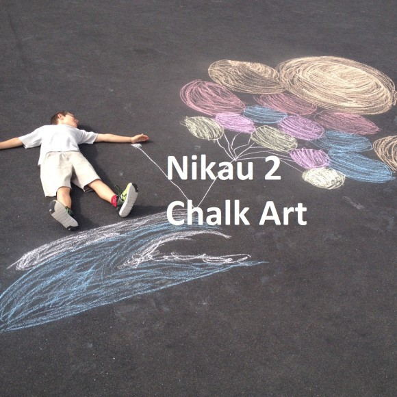 Nikau 2 Happiness Chalk Art