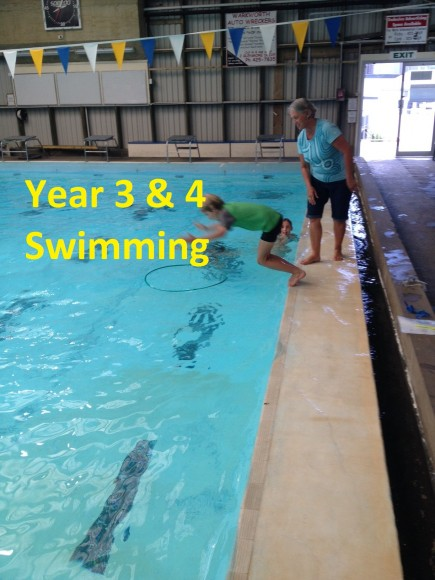 Year 3 and 4 Swimming with Aqua Kidz