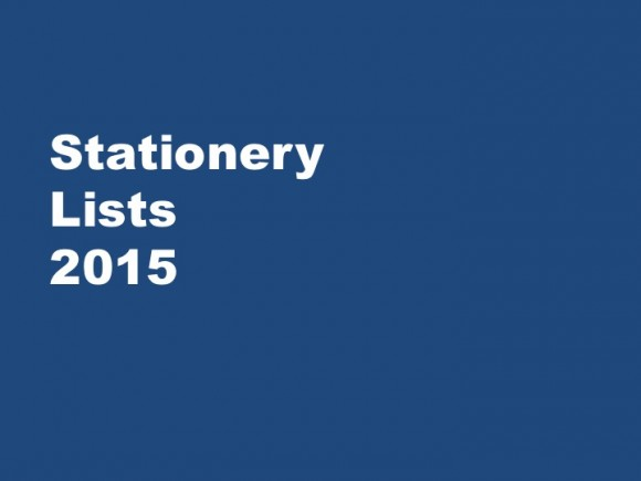 Stationery Lists 2015