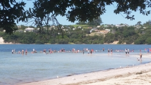 Whole school at beach